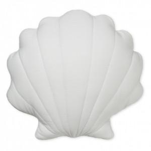 Perna decorativa gri pentru copii din bumbac organic 34x38 cm Sea Shell Classic Grey Cam Cam