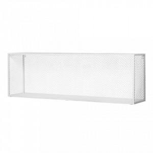 Raft alb din fier si MDF 100 cm Caido Bloomingville