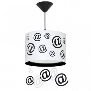 Lustra alba/neagra din metal si plastic Mail Pendants White Aldex