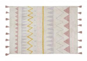 Covor dreptunghiular multicolor din bumbac 140x200 cm Azteca Natural-Vintage Nude Lorena Canals