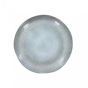 Farfurie intinsa gri din ceramica 28 cm Enzo Grey LifeStyle Home Collection
