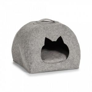 Patut gri din fetru pentru pisici Cats Basket Zeller