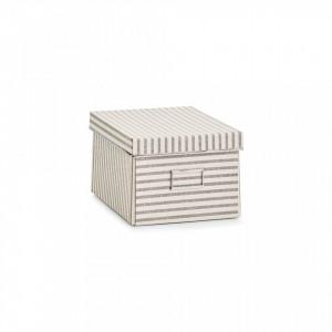 Cutie cu capac bej din carton Stripes Zeller
