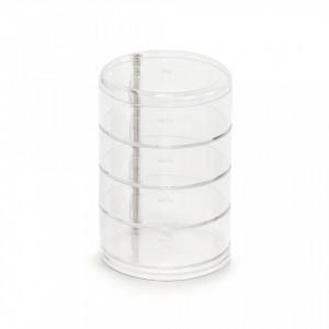 Organizator transparent din plastic Cosmetic Rotatable Zeller