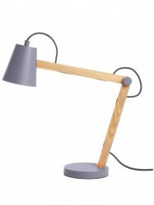 Veioza gri din metal si lemn 44 cm Play Frandsen Lighting