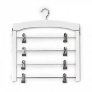 Umeras multiplu alb/argintiu din lemn si metal Rockbar Beech Zeller