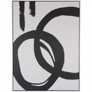 Tablou alb/negru din MDF si polistiren 60x80 cm Chill1 Somcasa