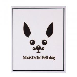 Tablou alb/negru din MDF si polistiren 25x30 cm Dog Somcasa