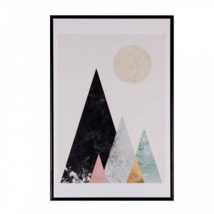 Tablou multicolor din MDF si polistiren 40x60 cm Mountains Somcasa