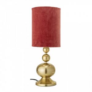 Veioza aurie/rosie din aluminiu si bumbac 47 cm Viloma Bloomingville