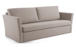 Canapea extensibila gri deschis din textil si metal 220 cm Westriver Visco La Forma