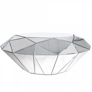 Masuta din MDF si sticla pentru cafea 80x115 cm Mirror Diamond Invicta Interior