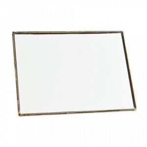 Oglinda dreptunghiulara de masa maro alama din fier 15x20 cm Davis Madam Stoltz