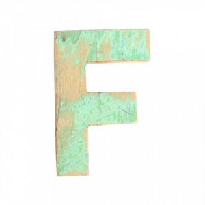 Decoratiune verde din lemn 18 cm F Raw Materials