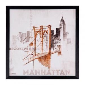 Tablou multicolor din MDF si polistiren 40x40 cm Manhattan Somcasa