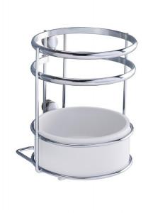 Suport argintiu/alb din metal si plastic pentru ustensile Utensil Holder Style Wenko