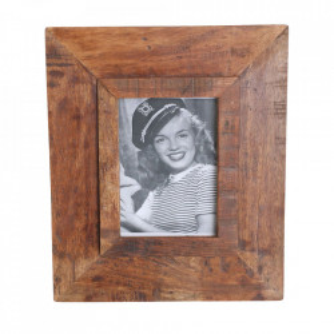 Rama foto dreptunghiulara maro din lemn 30x35 cm Fatima Raw Materials
