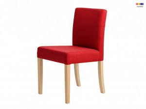 Scaun dining rosu din lemn si poliester Wilton Custom Form