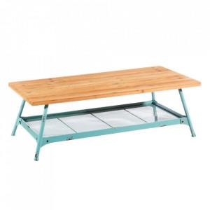 Masa maro/albastra din fier si lemn de brad pentru cafea 60x120 cm Hannah Ixia