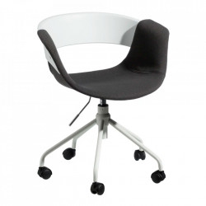 Scaun birou ajustabil alb/negru din fier si polipropilena Olak Ixia