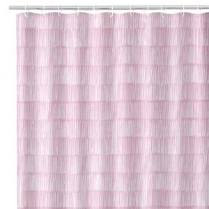 Perdea dus roz/alba din poliester 180x200 cm Drip Unimasa