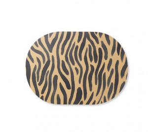Protectie masa ovala din MDF si pluta 33x46 cm Safari Tiger Ferm Living