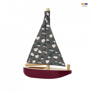 Decoratiune multicolora din lemn si bumbac Boat Nofred