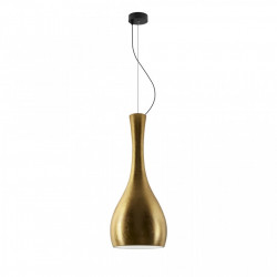 Lustra aurie/neagra din sticla si plastic Itteki Elementary Single Gold Sotto Luce