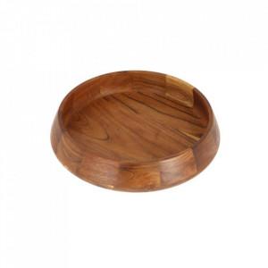 Bol decorativ maro din lemn 30 cm Large Breena La Forma