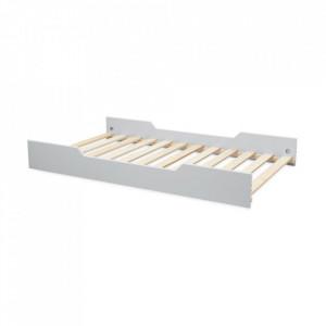 Somera cu margini laterale din lemn si MDF 90x160 cm Harlequin Grey Cam Cam