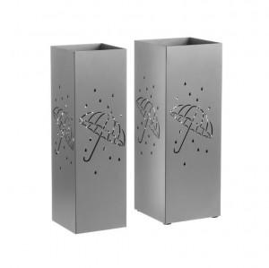 Set 2 suporturi gri argintiu din metal pentru umbrele Antonina Unimasa