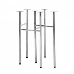 Set 2 picioare din metal pentru masa Mingle Chrome Ferm Living