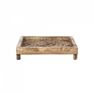 Suport maro din lemn pentru servetele Nature Bloomingville