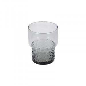 Pahar gri inchis din sticla 8,5x10,5 cm Syna La Forma