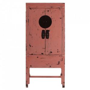 Dulap roz din lemn 195 cm Timika Vical Home