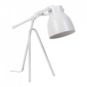 Lampa birou alba din metal 60 cm Otos Somcasa
