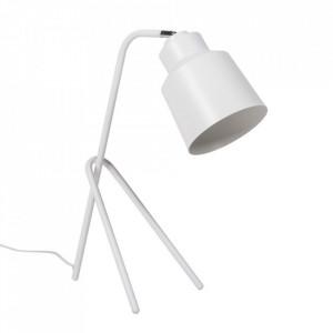 Lampa birou alba din metal 59 cm Vernisa Somcasa