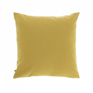 Fata de perna galbena din fibre acrilice si in 45x45 cm Nedra La Forma