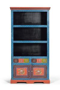 Biblioteca multicolora din lemn 180 cm Ibrar Giner y Colomer