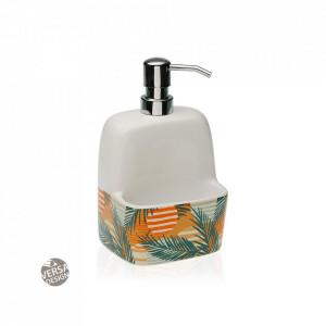 Dispenser sapun lichid multicolor din ceramica 11,2x19 cm Saona Versa Home