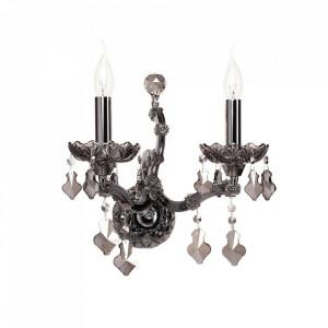Aplica argintie din metal si sticla cu 2 becuri Doriana MW Glasberg