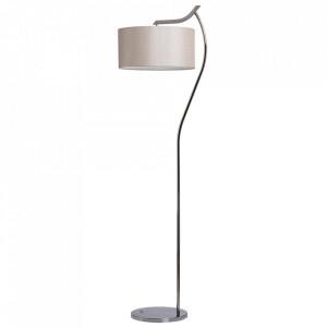 Lampadar argintiu/bej din inox si bumbac 166 cm Comfort MW Glasberg