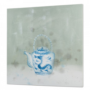 Tablou multicolor din lemn de pin 80x80 cm Blue Teapot Santiago Pons