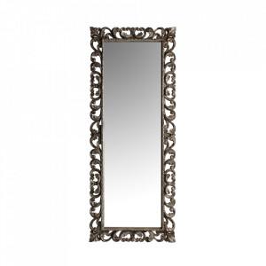 Oglinda dreptunghiulara argintie din lemn 80x200 cm Avi Vical Home