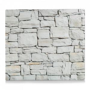 Panou antistropire bej din sticla pentru perete 50x56 cm Stone Zeller