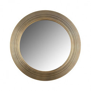 Oglinda rotunda maro alama din aluminiu si MDF pentru perete 41 cm Montel Richmond Interiors