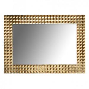 Oglinda dreptunghiulara aurie din alama si MDF pentru perete 51x71 cm Caster Richmond Interiors