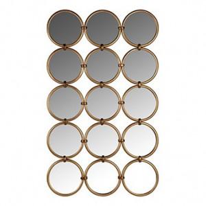 Decoratiune maro alama din fier cu oglinzi pentru perete 72x120 cm Coley Richmond Interiors