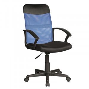 Scaun birou albastru/negru ajustabil din textil si plastic Obaka Signal Meble