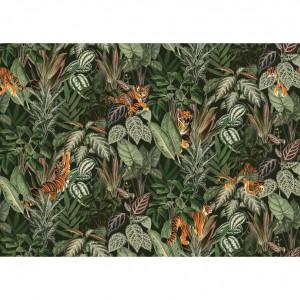 Tapet din hartie cu fibre de nailon Mischievous Tigers Rebel Walls